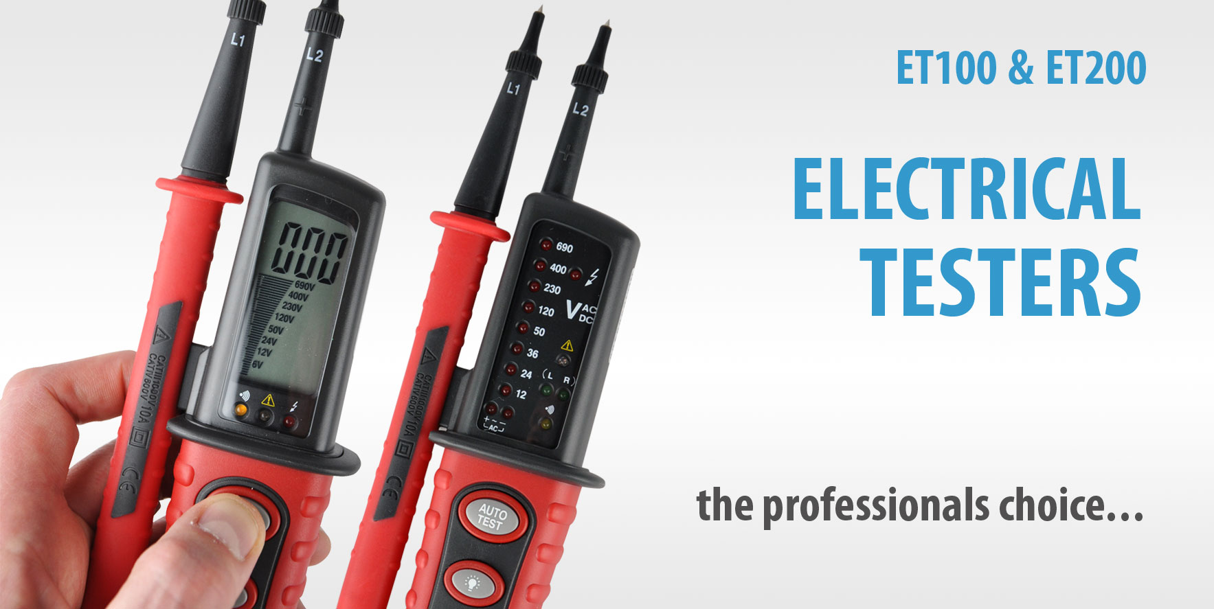 ET100 & ET200 Electrical Testers - Click to View