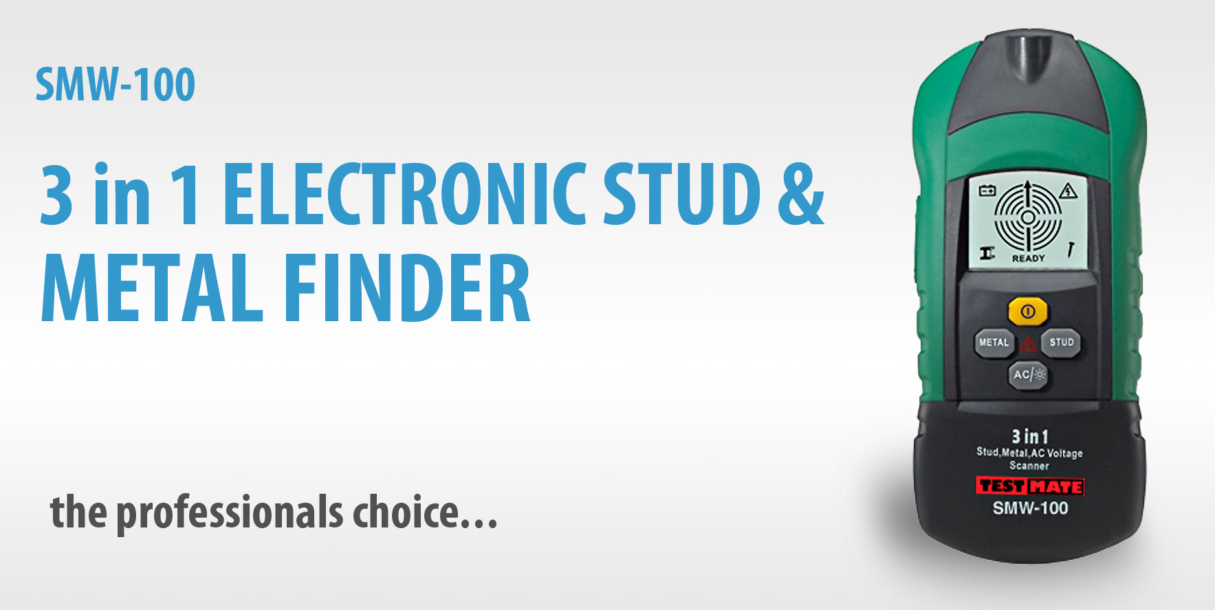SMW-100 3 in 1 Electronic Stud & Metal Finder - Click to View